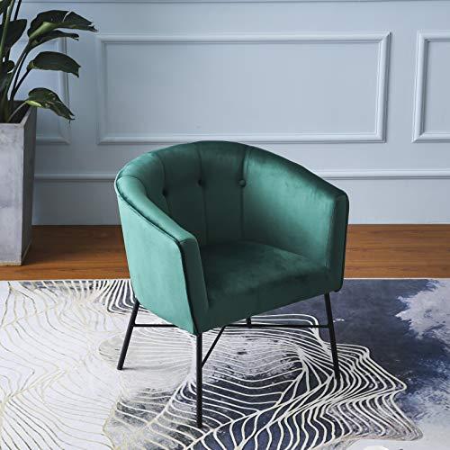 Cherry Tree Furniture AURELIE Velvet Fluted Back Armchair Tub Chair (Burnt Orange) 4