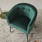 Cherry Tree Furniture AURELIE Velvet Fluted Back Armchair Tub Chair (Burnt Orange) 21