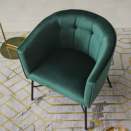 Cherry Tree Furniture AURELIE Velvet Fluted Back Armchair Tub Chair (Burnt Orange) 6