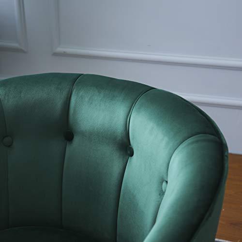 Cherry Tree Furniture AURELIE Velvet Fluted Back Armchair Tub Chair (Burnt Orange) 7