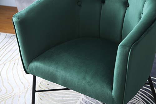 Cherry Tree Furniture AURELIE Velvet Fluted Back Armchair Tub Chair (Burnt Orange) 8