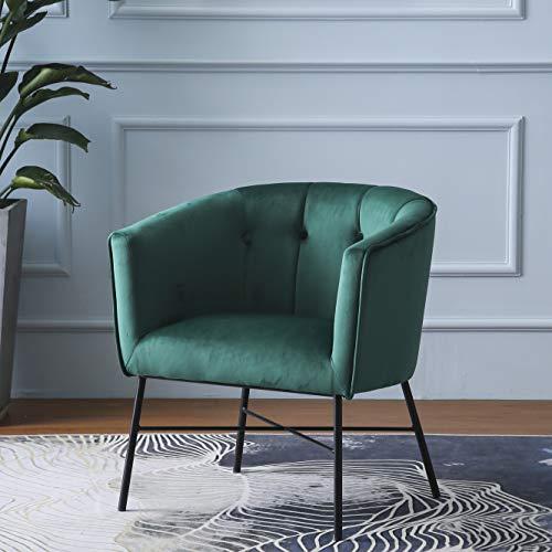 Cherry Tree Furniture AURELIE Velvet Fluted Back Armchair Tub Chair (Burnt Orange) 1