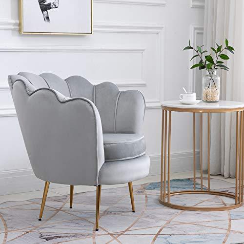 Cherry Tree Furniture HEPBURN Scalloped Velvet Armchair Tub Chair (Deep Blue) 4
