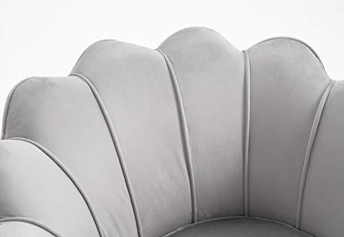 Cherry Tree Furniture HEPBURN Scalloped Velvet Armchair Tub Chair (Deep Blue) 5
