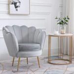 Cherry Tree Furniture HEPBURN Scalloped Velvet Armchair Tub Chair (Deep Blue) 21