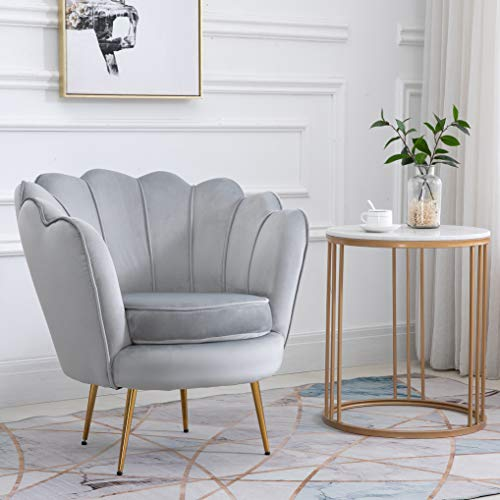 Cherry Tree Furniture HEPBURN Scalloped Velvet Armchair Tub Chair (Deep Blue) 6