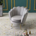 Cherry Tree Furniture HEPBURN Scalloped Velvet Armchair Tub Chair (Deep Blue) 22