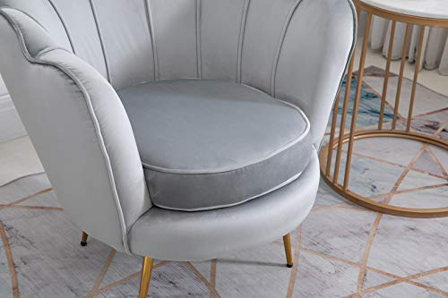 Cherry Tree Furniture HEPBURN Scalloped Velvet Armchair Tub Chair (Deep Blue) 8