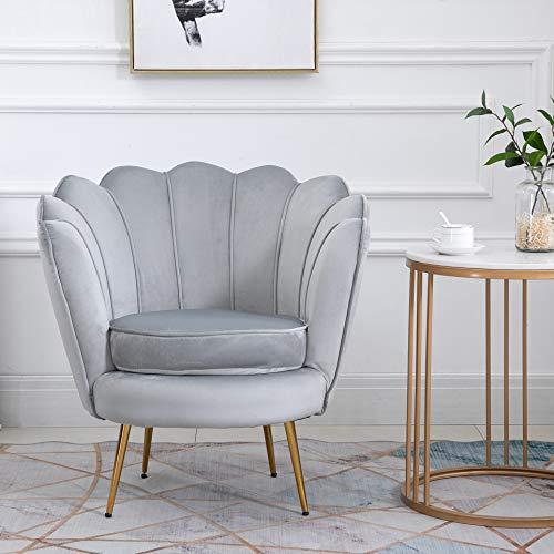Cherry Tree Furniture HEPBURN Scalloped Velvet Armchair Tub Chair (Deep Blue) 1