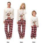 Christmas Pjs Family Matching Sleepwear Knit Holiday Mix Match Pajamas PJs Collection Tops and Long Pants Sleepwear… 14
