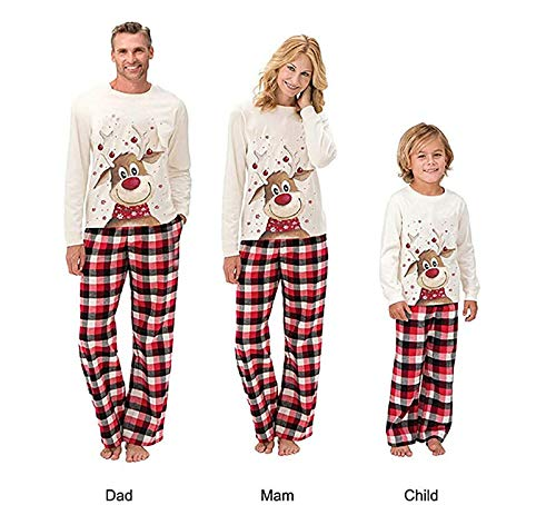 Christmas Pjs Family Matching Sleepwear Knit Holiday Mix Match Pajamas PJs Collection Tops and Long Pants Sleepwear… 3