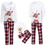 Christmas Pjs Family Matching Sleepwear Knit Holiday Mix Match Pajamas PJs Collection Tops and Long Pants Sleepwear… 16