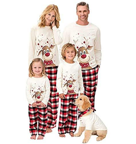 Christmas Pjs Family Matching Sleepwear Knit Holiday Mix Match Pajamas PJs Collection Tops and Long Pants Sleepwear… 1