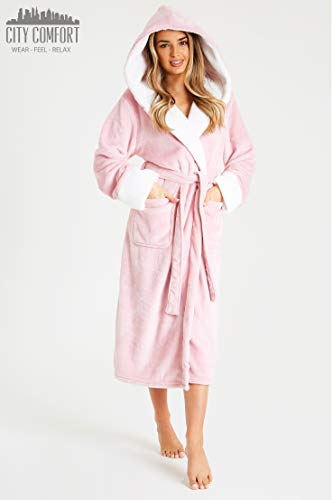 CityComfort Dressing Gown Women | Ladies Hooded Fleece Fluffy Dressing Gowns | Super Soft Ladies Bathrobe | Gifts for… 3