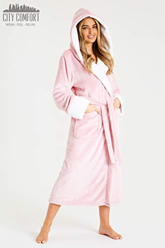 CityComfort Dressing Gown Women | Ladies Hooded Fleece Fluffy Dressing Gowns | Super Soft Ladies Bathrobe | Gifts for… 5