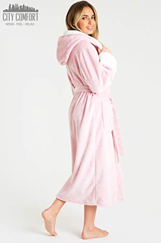 CityComfort Dressing Gown Women | Ladies Hooded Fleece Fluffy Dressing Gowns | Super Soft Ladies Bathrobe | Gifts for… 7