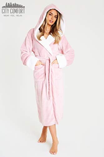 CityComfort Dressing Gown Women | Ladies Hooded Fleece Fluffy Dressing Gowns | Super Soft Ladies Bathrobe | Gifts for… 8