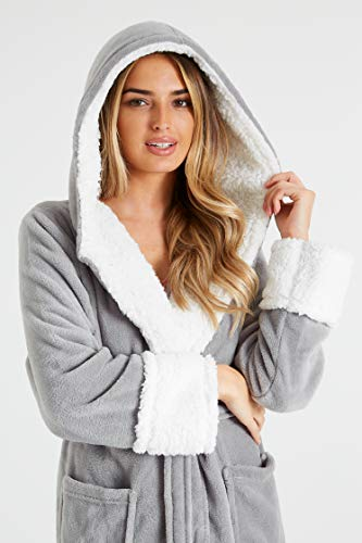 CityComfort Dressing Gown Women with Hood - Luxurious Fluffy Ladies Dressing Gown in Super Soft Fleece for Women, Gifts… 4