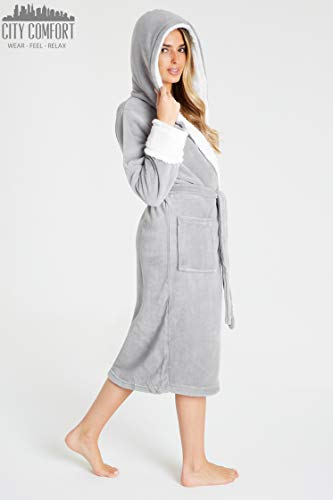CityComfort Dressing Gown Women with Hood - Luxurious Fluffy Ladies Dressing Gown in Super Soft Fleece for Women, Gifts… 5
