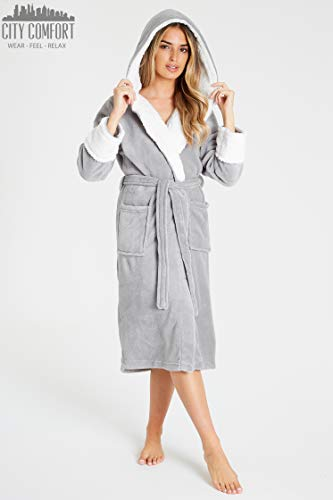 CityComfort Dressing Gown Women with Hood - Luxurious Fluffy Ladies Dressing Gown in Super Soft Fleece for Women, Gifts… 7