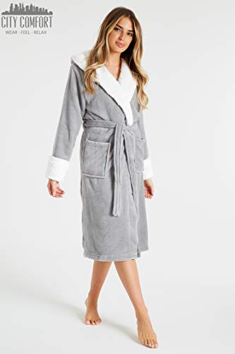 CityComfort Dressing Gown Women with Hood - Luxurious Fluffy Ladies Dressing Gown in Super Soft Fleece for Women, Gifts… 8