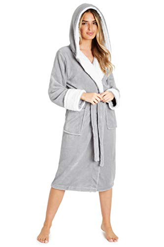 CityComfort Dressing Gown Women with Hood - Luxurious Fluffy Ladies Dressing Gown in Super Soft Fleece for Women, Gifts… 1