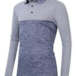 Clearlove Men's Solid Colour Casual Golf Tops Shirts Polo 17