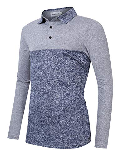 Clearlove Men's Solid Colour Casual Golf Tops Shirts Polo 4