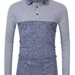 Clearlove Men's Solid Colour Casual Golf Tops Shirts Polo 15