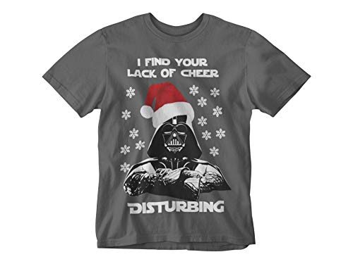 CorruptClothing Men's Darth Vader Star Wars Christmas T-Shirt Lack of Cheer Tee Funny Gift Cool Xmas Tee (x-Large… 1
