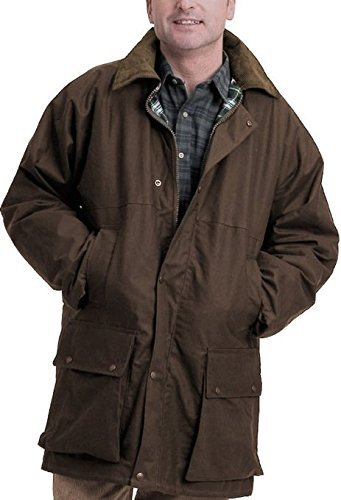 Country Leisure Wear British Quilted Wax Rain Jacket 1