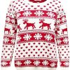 Crazy Girls Red Olives® Womens Baby Reindeer Christmas Jumper Kids Unisex Bambi Deer Xmas Knitted Top 7/8 Years-M/L 6