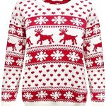 Crazy Girls Red Olives® Womens Baby Reindeer Christmas Jumper Kids Unisex Bambi Deer Xmas Knitted Top 7/8 Years-M/L 8