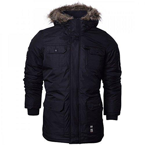 Crosshatch Mens Heavy Weight Fur Hood 'Parked' Parka Padded Waterproof Winter Coat Jacket 4