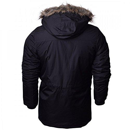 Crosshatch Mens Heavy Weight Fur Hood 'Parked' Parka Padded Waterproof Winter Coat Jacket 5