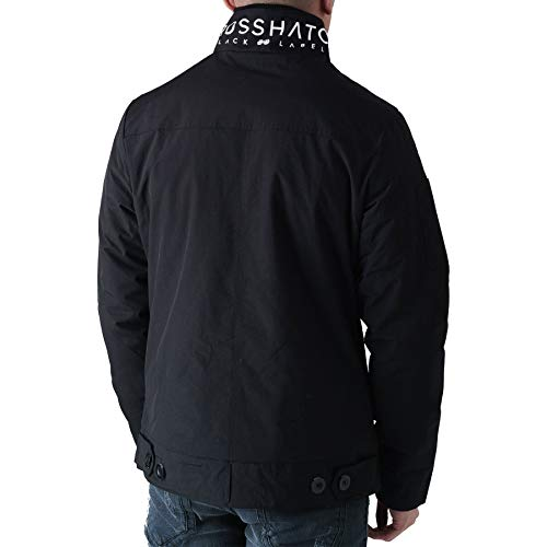 Crosshatch New Mens Full Zip Warm Jacket Padded Double Layer Button Winter Coat 3