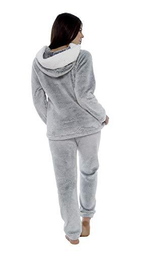 Daisy Dreamer Women's Shimmer Fleece Pyjamas, Fluffy Soft Hooded Twosie Pyjama Set, Size 8-22, LN769 3