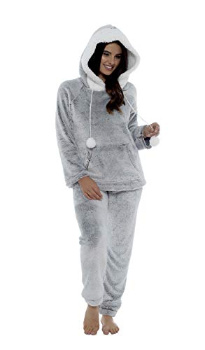Daisy Dreamer Women's Shimmer Fleece Pyjamas, Fluffy Soft Hooded Twosie Pyjama Set, Size 8-22, LN769 5