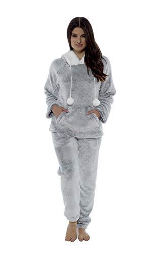 Daisy Dreamer Women's Shimmer Fleece Pyjamas, Fluffy Soft Hooded Twosie Pyjama Set, Size 8-22, LN769 6