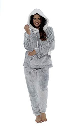 Daisy Dreamer Women's Shimmer Fleece Pyjamas, Fluffy Soft Hooded Twosie Pyjama Set, Size 8-22, LN769 1