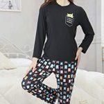 DiaryLook Ladies Pyjama Sets, 2-Piece Women Pjs Set Long Sleeve Sleepwear with Cute Print UK Size 8-28, XS-XXL 17