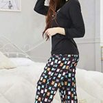 DiaryLook Ladies Pyjama Sets, 2-Piece Women Pjs Set Long Sleeve Sleepwear with Cute Print UK Size 8-28, XS-XXL 19