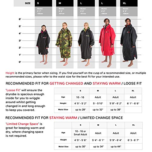 Dryrobe Advance LONG SLEEVE Change Robe - Stay Warm and Dry - Windproof Waterproof Oversized Poncho Coat - Swimming… 3