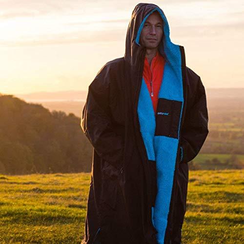 Dryrobe Advance LONG SLEEVE Change Robe - Stay Warm and Dry - Windproof Waterproof Oversized Poncho Coat - Swimming… 6