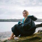 Dryrobe Advance LONG SLEEVE Change Robe - Stay Warm and Dry - Windproof Waterproof Oversized Poncho Coat - Swimming… 20