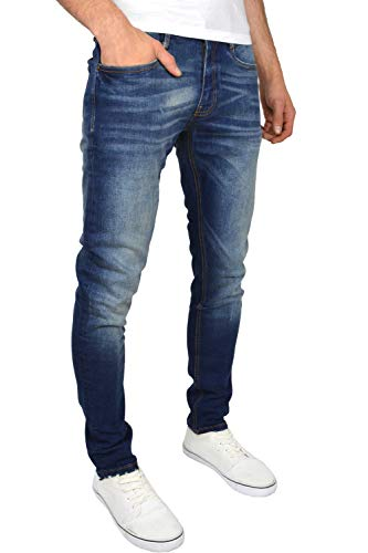 Duck and Cover Men's Tranfold Faded Abraised Stretch Slim Fit Jeans 3