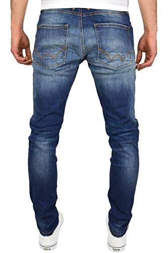 Duck and Cover Men's Tranfold Faded Abraised Stretch Slim Fit Jeans 4