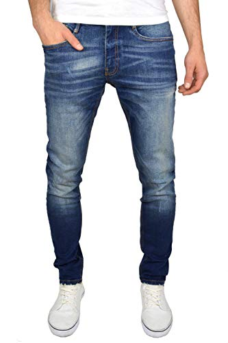 Duck and Cover Men's Tranfold Faded Abraised Stretch Slim Fit Jeans 1