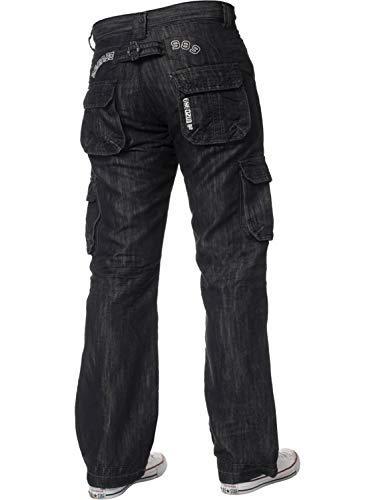 ENZO Mens Designer Cargo Combat Jeans Denim Pants All Waist Sizes 4
