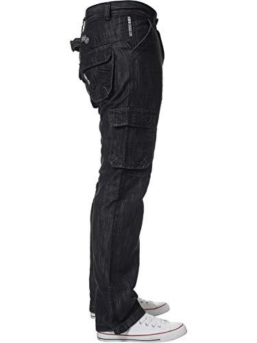 ENZO Mens Designer Cargo Combat Jeans Denim Pants All Waist Sizes 5